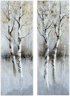 "Birch Tree Panels I, Ii 15.75 x 47.25"" (Set of 2) - casa.com"