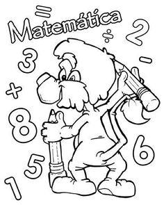 Portada Matematicas Para Colorear | Children Coloring Colorful Pictures, More Pictures, Desktop Images, Grammar Book, Free Hd Wallpapers, Free Coloring Pages, Pixel Art, Education, Comics