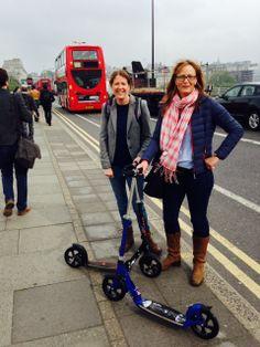 Adult scooting Micro scooters Waterloo Bridge