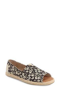 16d0f84f123 TOMS Print Open Toe Espadrille Slip-On (Women).  toms  shoes