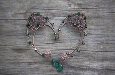 Woodland glam elf ear cuffs fairytale wedding by ElysianPearl