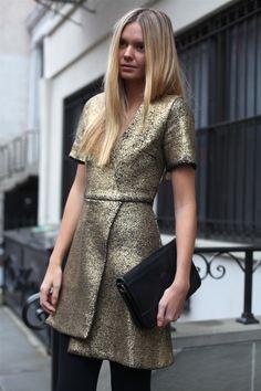gold glitter dress