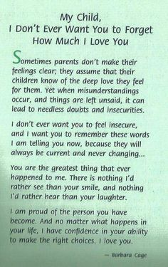 It's such a difficult thing to express your undying love for your children, but this is a wonderful start.