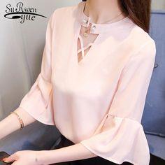 Fashion chiffon women blouse shirt flare sleeve summer ladies tops chiffon blouse women shirt feminine blouses blusas 0373 40. Yesterday's price: US $12.50 (10.89 EUR). Today's price: US $9.38 (8.14 EUR). Discount: 25%. Ladies Tops, Shirt Blouses, Shirts, Chiffon Tops, Blouses For Women, Girls Dresses, Feminine, Clothes, Fashion
