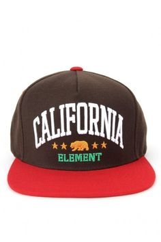 Element Clothing California Snapback Hat - Brown $22.00