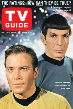 TV Guide's first Star Trek cover, dated March 4, 1967.