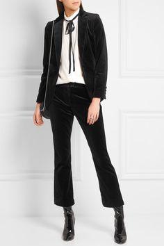 Frame | Velvet blazer | NET-A-PORTER.COM