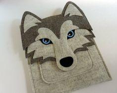iPad Air / 2 / 3 / 4 case Felt fox sleeve von BoutiqueID auf Etsy