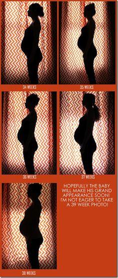 Cute Silhouette Pregnancy Photos
