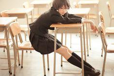 Cute Cosplay, Best Cosplay, Cosplay Girls, Anime Cosplay, Black Long Sleeve Shirt, Long Sleeve Shirts, Sword Art Online Cosplay, Asada Shino, Dolly Fashion