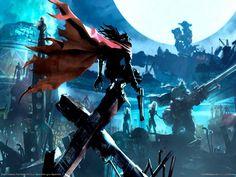 Vincent Valentine. Official art. Final Fantasy VII.