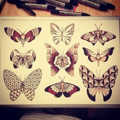 Been looking for a butterfly tattoo like this for ever love the geometics