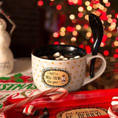 Snow Pals - There's Snow Friend Like You! Ceramic Soup Bowl Mug with Spoon Christmas Themed Kitchenware Kitchenware, Tableware, Christmas Themes, Spoon, Hotel Victoria, Ceramics, Hotel Deals, Mugs, Magnolia