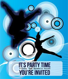Party Time Poster Free Vector. - http://www.dreamstock.net/party-time-poster-free-vector/