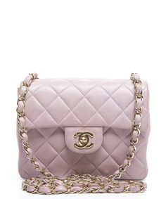 c071d4fe618d Chanel Pre-Owned Chanel Lavender Lambskin Mini Flap Bag Chanel Purse, Chanel  Mini,