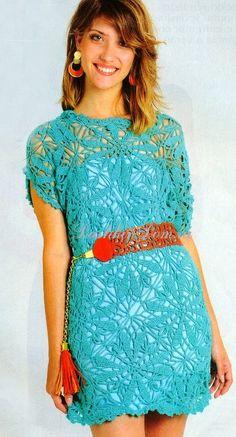 Вязаные платья крючком (подборка, модели с описанием) | Дашкин Дом