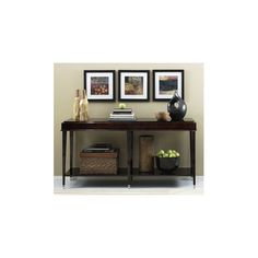A smartly arranged console table.