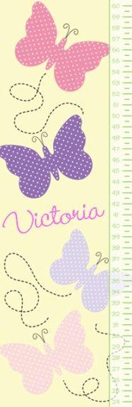 Butterfly Growth Chart #nursery #butterflies
