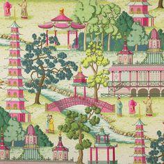 "Manuel Canovas | ""Pagoda"" in Rose | House of Pemberley"