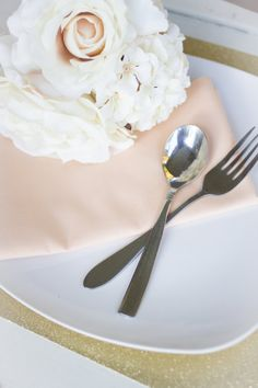 Blush pink napkins for tables