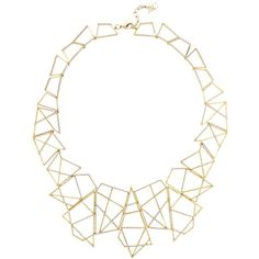 Womens Necklaces Joanna Laura Constantine Deco Gold-plated Necklace (31520 TWD) ❤ liked on Polyvore featuring jewelry, necklaces, joanna laura constantine, deco necklace, gold plated jewellery, art deco-inspired jewelry and cut out jewelry
