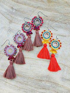 Brick Stitch, Tassel Necklace, Jewerly, Tassels, Beading, Handmade, Jewlery, Beads, Hand Made