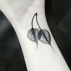 Beautiful botanical leaf tattoo by Sou_tattooer