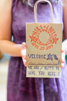 Colourful & cute welcome bags | Caitlin Turner Photography | Bridal Musings Wedding Blog