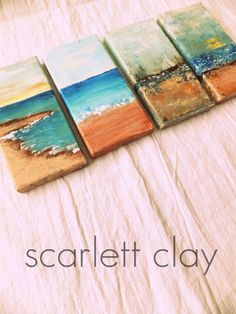 Painting Acrylic Step By Step Canvases Medium Ideas For 2019 Small Paintings, Easy Paintings, Ocean Paintings, Canvas Paintings, Love Canvas, Canvas Art, Mini Canvas, Blank Canvas, Small Canvas