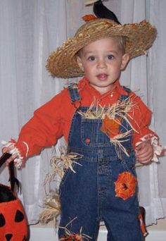 scarecrow costume... with matching hat from chasing-fireflies with big sister in dress