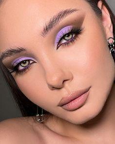 Rock Makeup, Eye Makeup Art, Sexy Makeup, Glam Makeup, Eyeshadow Makeup, Beauty Makeup, Hair Makeup, Purple Makeup Looks, Peach Makeup