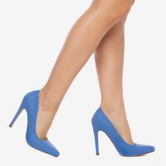 Lamiss Blue Heels