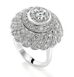 Spiral diamond ring by Robinson Pelham