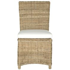 Woven dining chairs look great grouped around a breakfast table. | $346