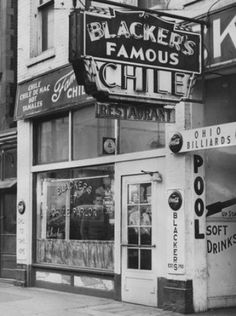 D.C. Blacker's Chile Parlors had four locations open all night 55 Mass. Ave, 139 S. Illinois St, 16 W. Ohio St and 320 E. Washington St. Bla...
