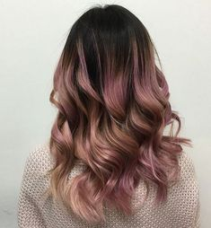 Brown With Rose Gold Hair Color