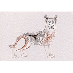 Stitching Cards Alsatian dog pattern