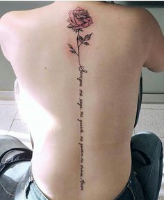 back rose tattoo spine The post Back Rose Tattoo Spine appeared first on Ruby Sanders. Girly Tattoos, Baby Tattoos, Small Tattoos, Tatoos, Back Tattoo Women, Tattoos For Women, Piercing Tattoo, Tattoo Hals, Tattoo Neck
