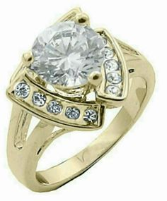 Big .925 Silver Multi Row White Sapphire Ring Taille 8.5