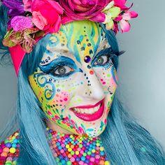 Vastelaovend Von: Ingrid Breugelmans Sôkkertantes Make-up - Kostüm - Schminke Adult Face Painting, Body Painting, Ethereal Makeup, Ingrid, Face Painting Designs, Fantasy Makeup, World Music, Make Up, Best Makeup Products