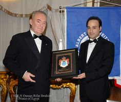 Ioannis Vlazakis with H.R.H Osman Rifat Ibrahim of Egypt