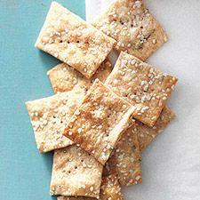 Sourdough Crackers: King Arthur Flour Good use for excess sourdough starter! Sourdough Recipes, Sourdough Bread, Savoury Recipes, Bread Recipes, Vegan Recipes, Cheese Straws, Homemade Crackers, Chips, King Arthur Flour