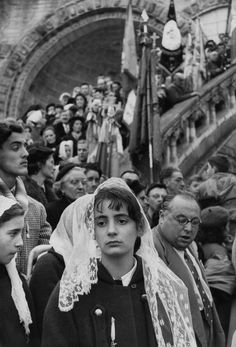 Henri Cartier-Bresson - Lourdes, major place of West Christian pilgrimage. 1958.