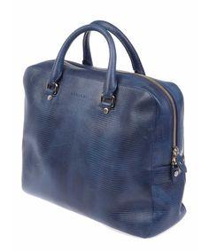 PB0014BLU Leather Briefcase, Briefcases, Blue, Men, Fashion, Moda, Fashion Styles, Briefcase, Guys