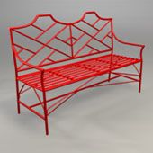 Chippendale Bench by O'Brien Ironworks