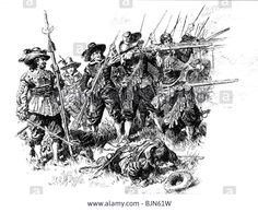 military-musketeers-thirty-years-war-1618-1648-drawing-by-anton-hoffmann Historical Illustrations, Thirty Years' War, Early Modern Period, History Books, Fantasy World, 17th Century, Warfare, Warriors, Renaissance