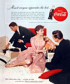 Coca-Cola 1955 Record Player Almost Everyone - Mad Men Art: The 1891-1970 Vintage Advertisement Art Collection