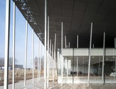 Image 15 of 30 from gallery of Stonehenge Visitor Centre / Denton Corker Marshall. Photograph by Peter Cook Peter Cook, Stonehenge Visitor Centre, Tectonic Architecture, Building Museum, Australian Architecture, Amazing Architecture, Timber Cladding, Old Stone, World Heritage Sites