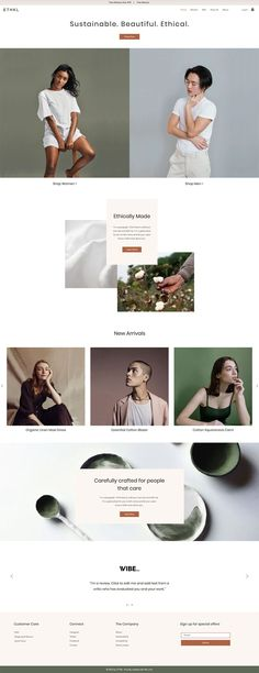Sustainable Clothing Brand | Online store  | Website Template