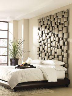 La cabecera de la cama ha servido tradicionalmente para evitar el roce de la cabeza con la pared. Actualmente su uso está más relacionado con la decoración que con la funcionalidad. Aquí unos ejemplos fuera de lo común. http://blog.planreforma.com/ideas-de-cabeceras-para-la-cama/